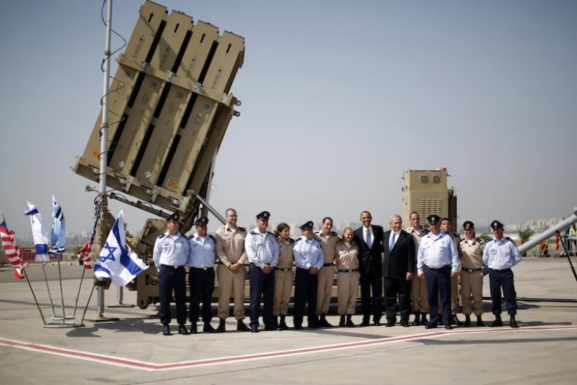 Obama at an Iron Dome Battery