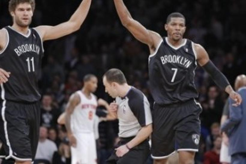 Brook Lopez Joe Johnson Brooklyn Nets