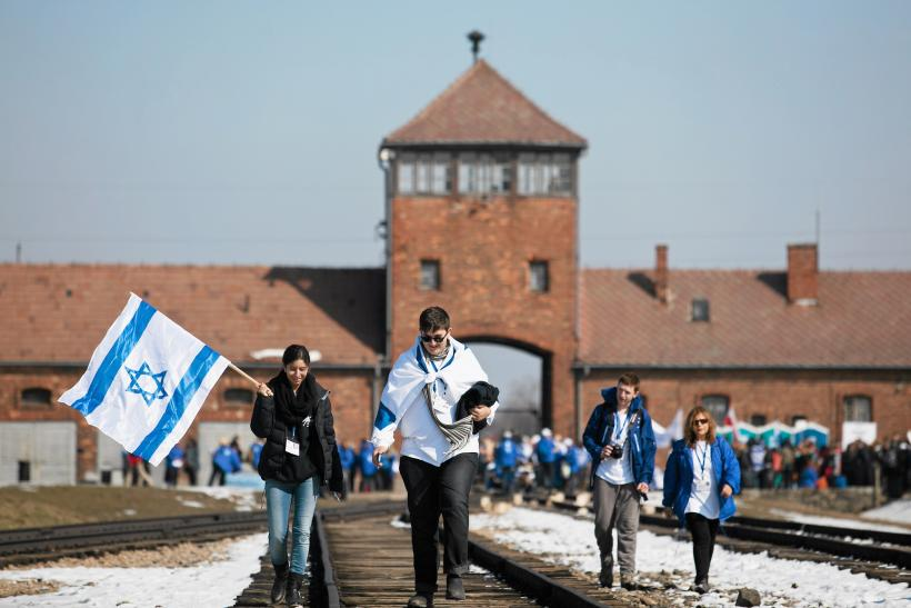 Holocaust memorial day at Birkenau