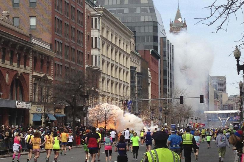 Boston Marathon smoke