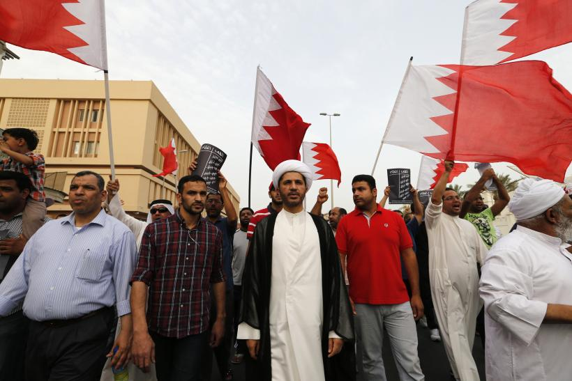 Protestors in Bahrain