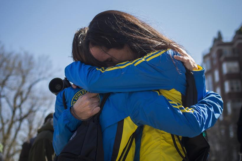 Boston Marathon Runners After Bombing