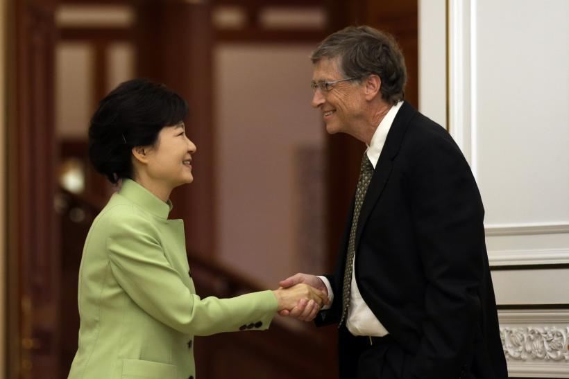 Bill Gates Greets South Korea's president Park Geun-hye