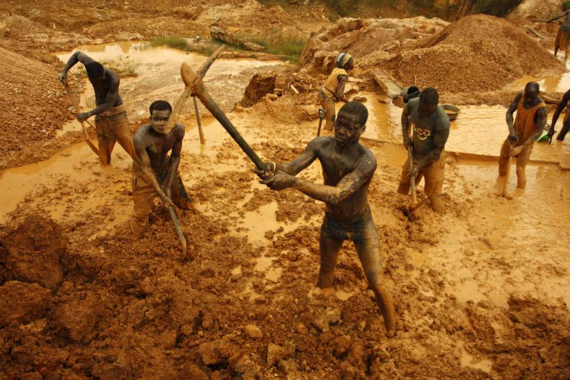 Gold miners in Ghana