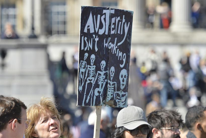 London anti-austerity protest