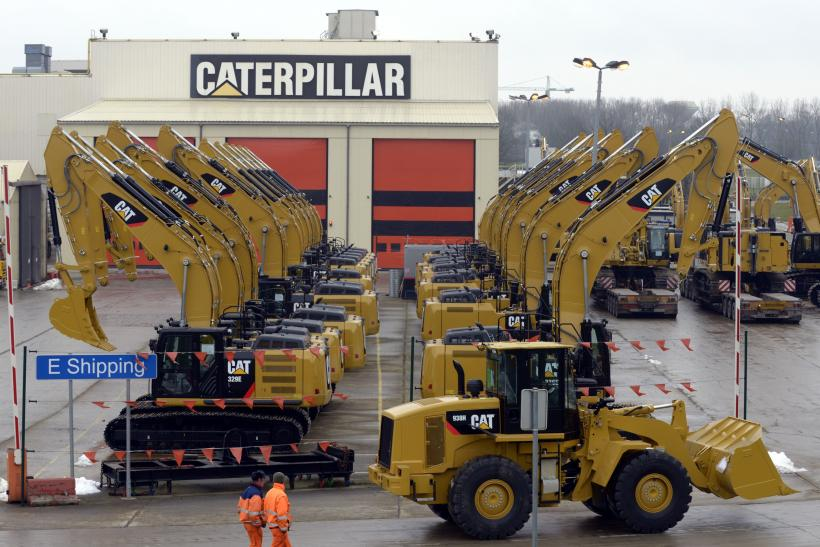 Caterpillar Excavators In Gosselies, Belgium