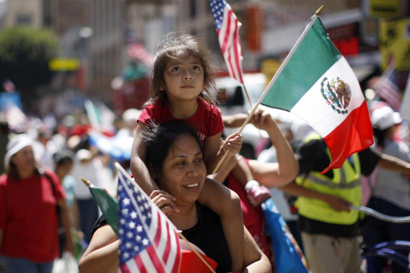Immigration Protest In Los Angeles, Calif.