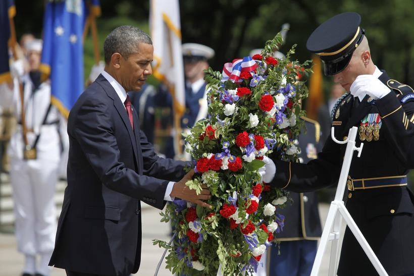 Obama at Arlington Memorial Day 2013