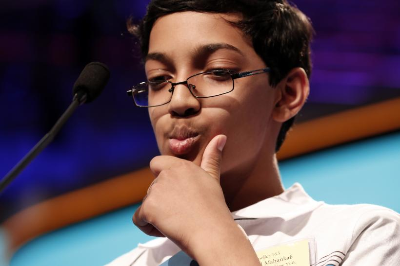 Arvind Mahankali of New York ponders a word on his way to winning the National Spelling Bee.