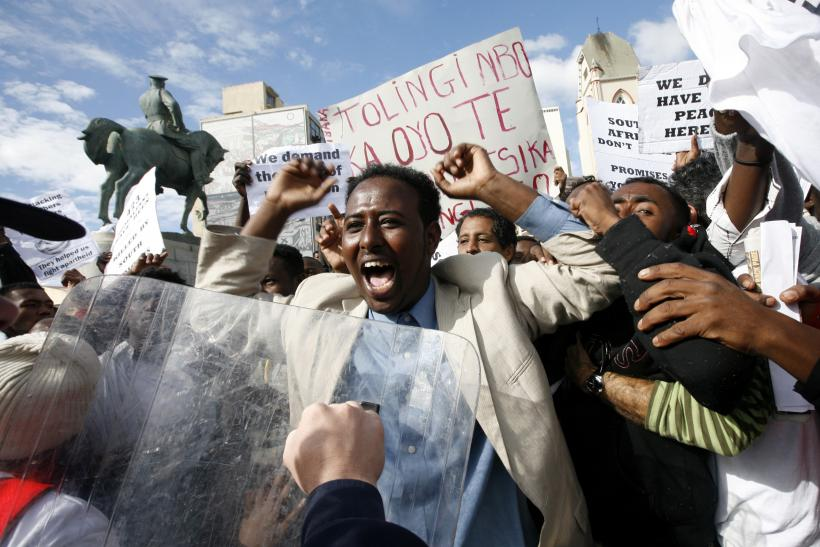 Somali Nationals Protest Outside Parliament, Cape Town