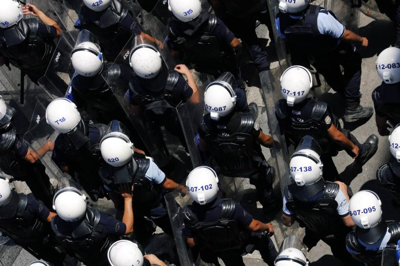 Riot Police March Through Taksim Square