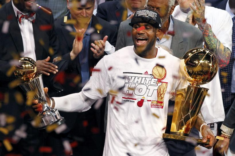 LeBron James Miami Heat 2013 Game 7 NBA Finals