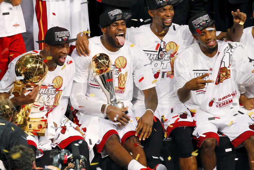 Miami Heat Championship 2013 Lebron Wade Bosh Battier And Chalmers To Return In 2014 For Another Chance At An Nba Ring Free Agency News
