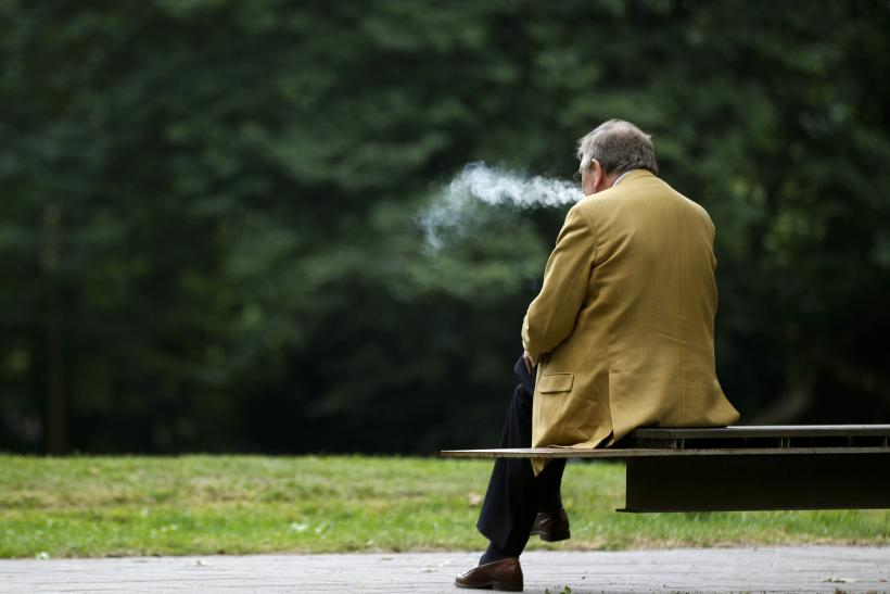German man smoking