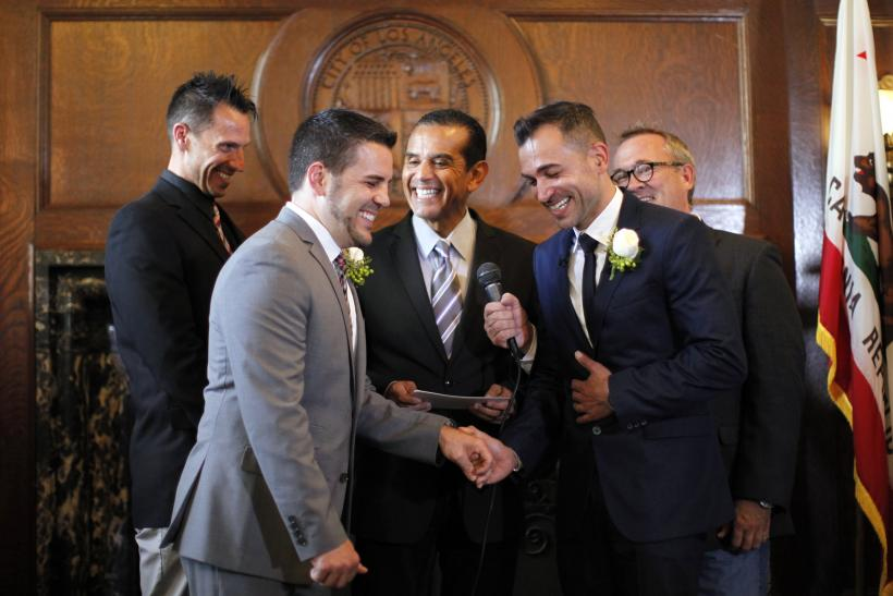 Gay wedding of Prop 8 plaintiffs