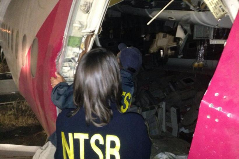 NTSB chief checks Asiana wreckage