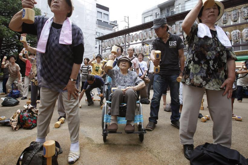 Japan senior citizens 2012