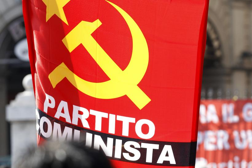Italian Communists march in Rome.