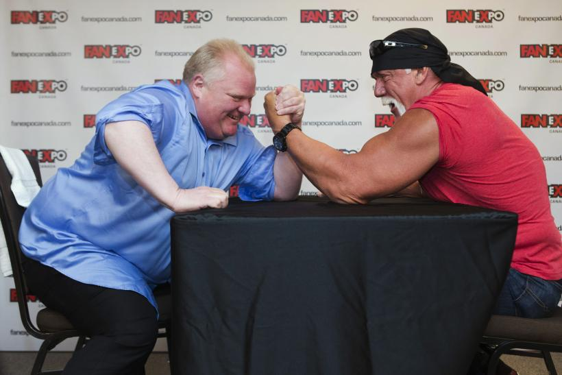 Toronto Mayor Rob Ford And Hulk Hogan