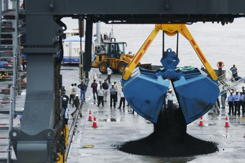 Coal unloaded at Gujarat port