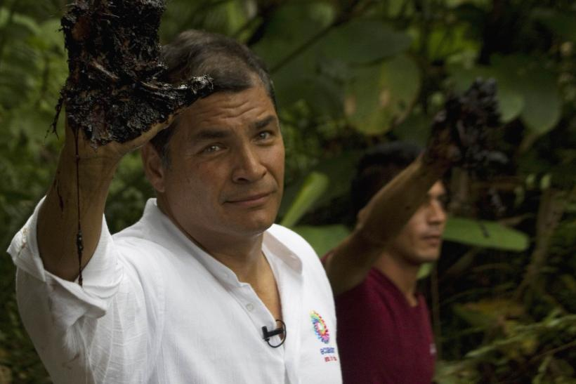 Rafael Correa oil waste