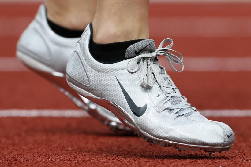 8ebe2c3887d1 An athlete wears a pair of Nike shoes at the U.S. Olympic athletics trials  in Eugene
