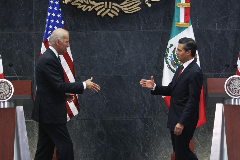 Joe Biden and Enrique Pena Nieto