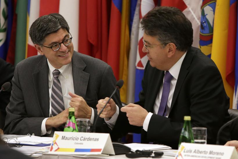 Jack Lew and Mauricio Cardenas