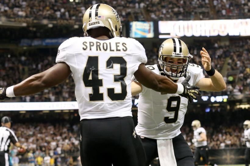 Darren Sproles Drew Brees New Orleans Saints