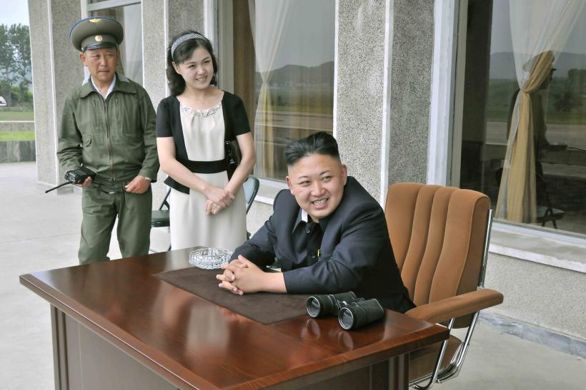 Ri Sol Ju and Kim Jong Un