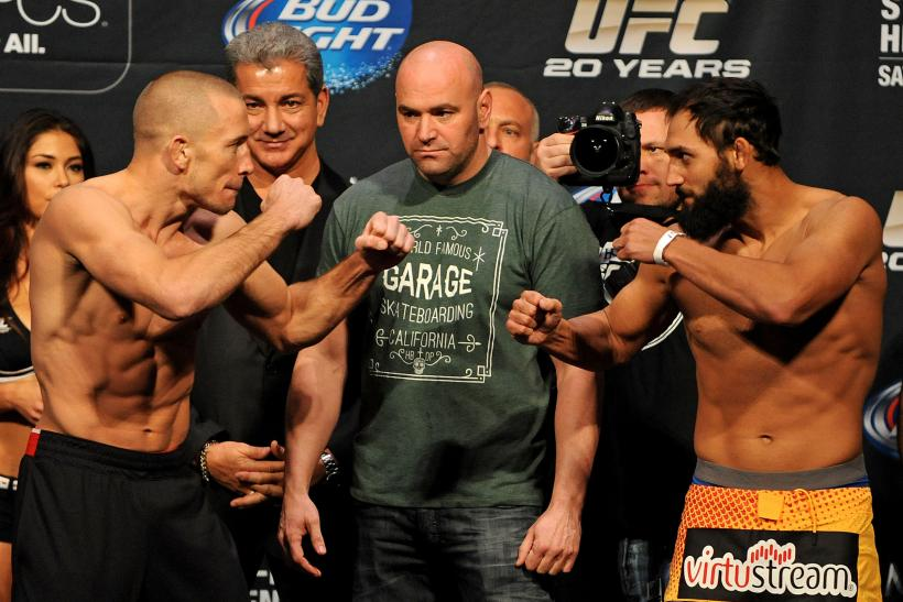 Georges St-Pierre Johny Hendricks UFC 167
