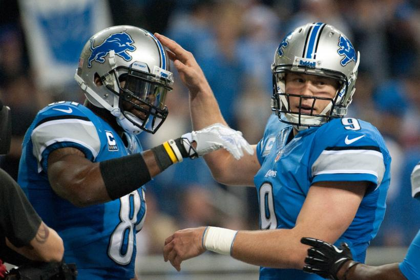 Calvin Johnson Matthew Stafford Detroit Lions