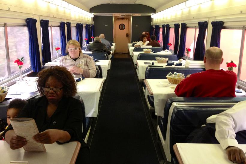 Amtrak diner car by Huffman
