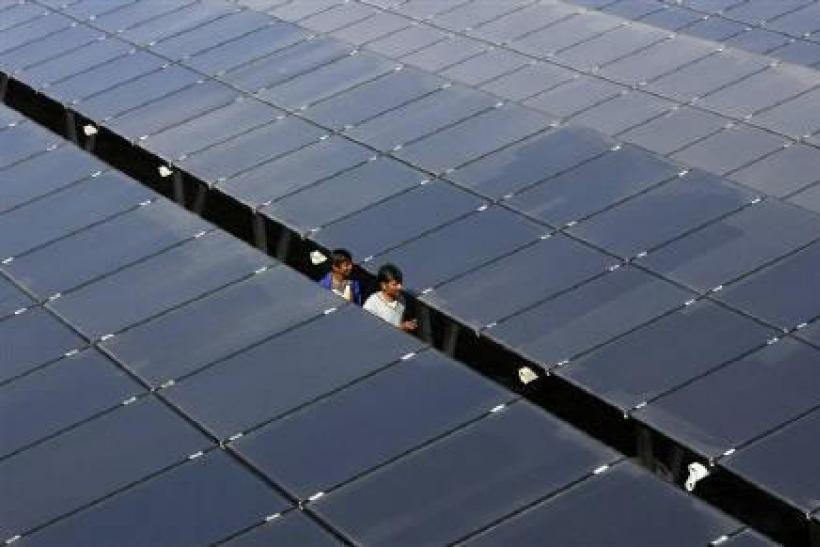 Solar power plant in Gujarat, India