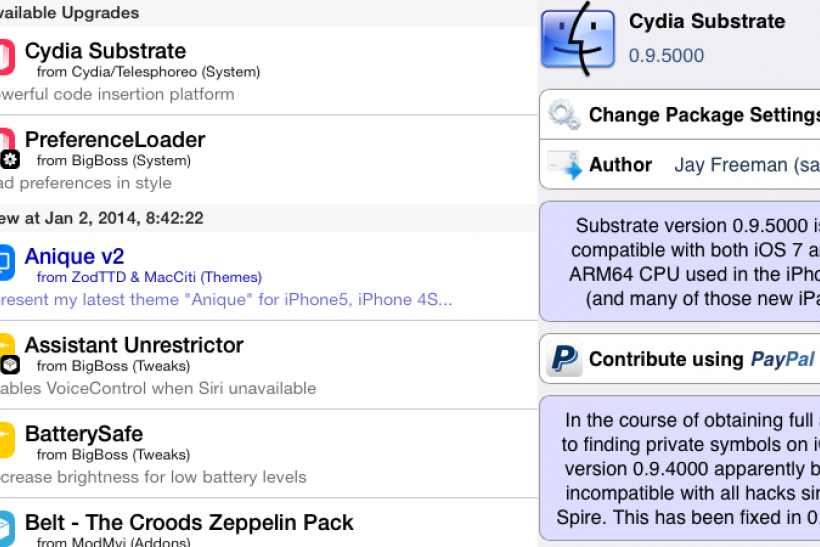 Cydia Substrate MobileSubstrate update