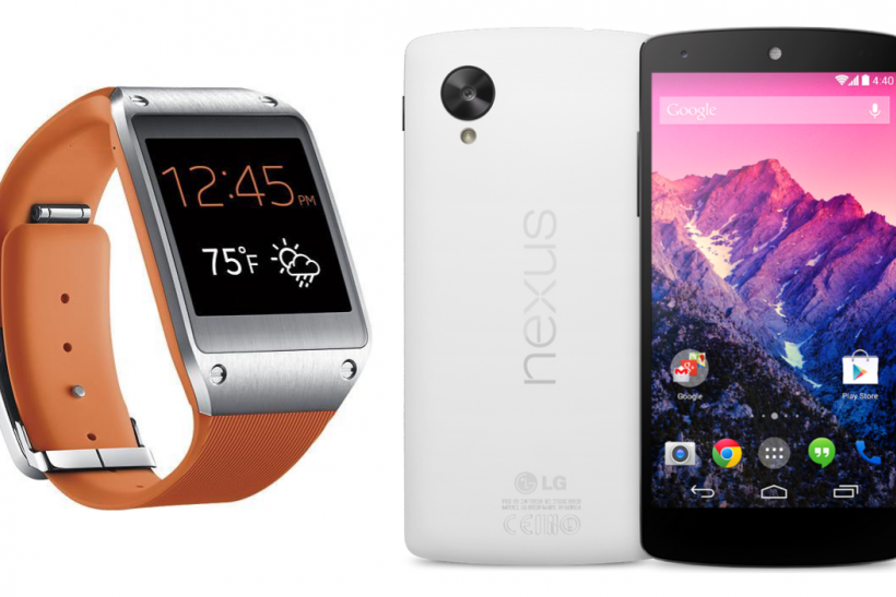 Samsung Galaxy Gear on Google Nexus 5