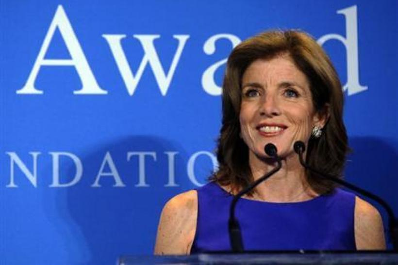 You know, Caroline Kennedy