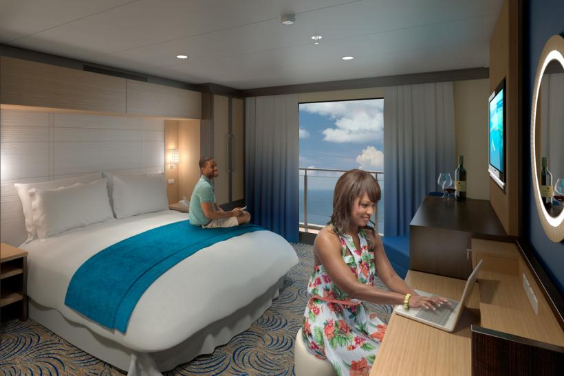 Cruise Ship Debuts Virtual Balconies For Windowless Interior Cabins - Rooms on cruise ships