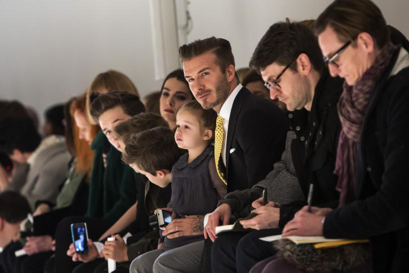 David Beckham with children