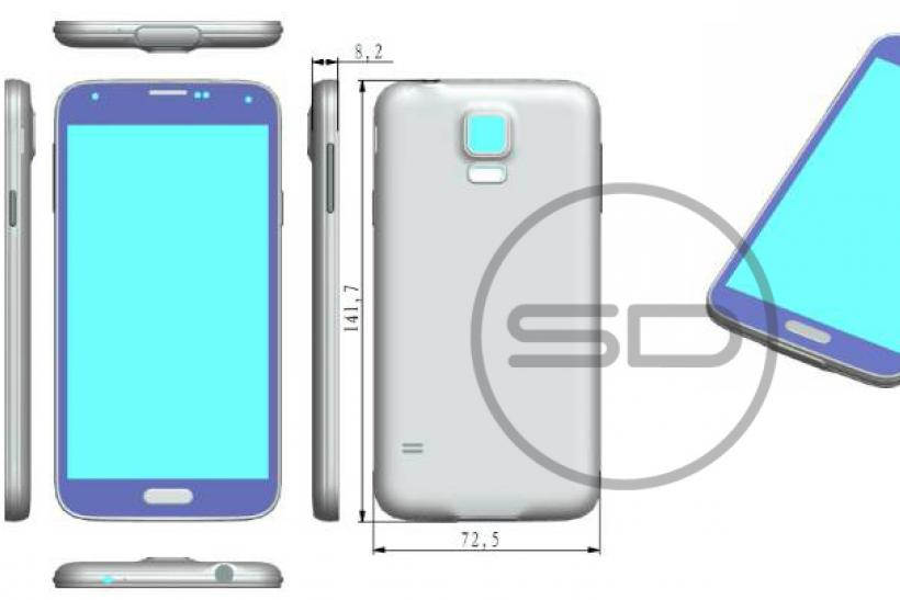 Supposed Samsung Galaxy S5 render