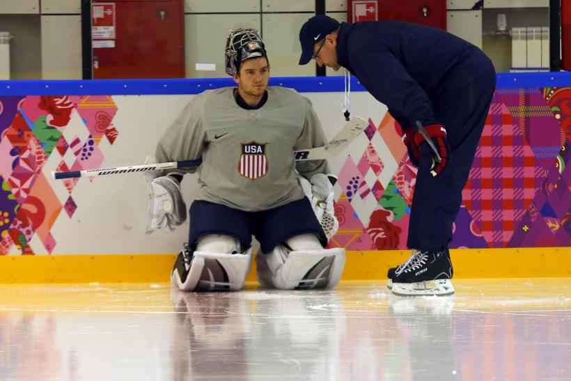 Jonathan Quick Dan Bylsma Team USA Hockey