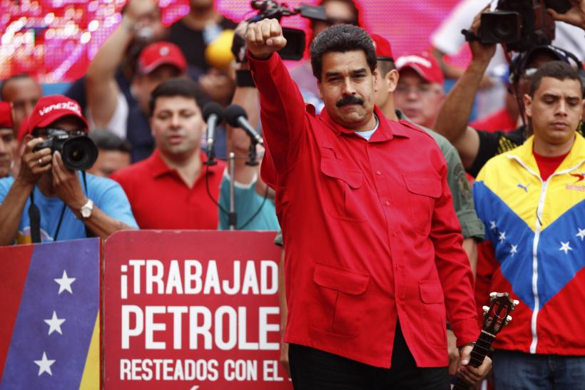Nicolas Maduro at Caracas rally