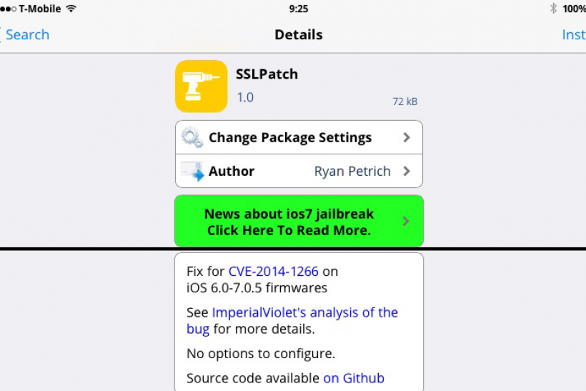 SSLPatch Apple iOS 7.0.5