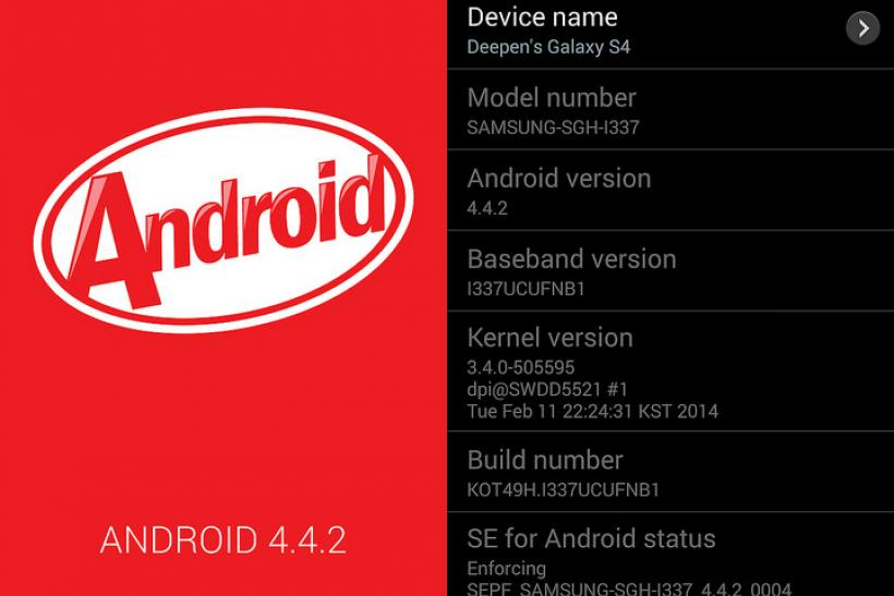 Android 4 4 2 KitKat I337UCUFNB1 Official Firmware Released