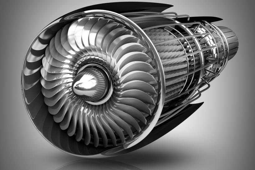 Jet engine aluminum by Shutterstock