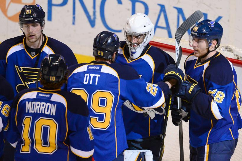 Ryan Miller Steve Ott St. Louis Blues