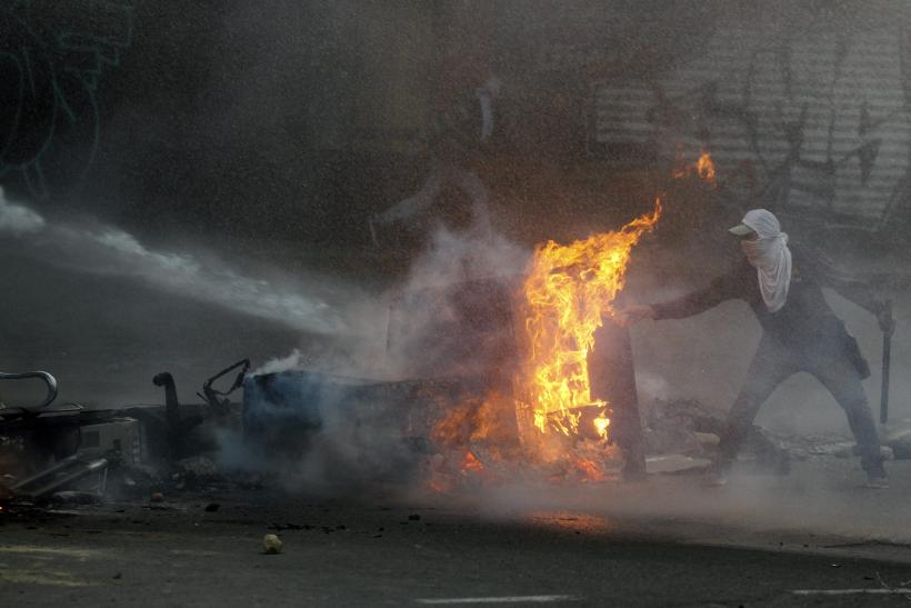 Venezuela Protester Fire March 12