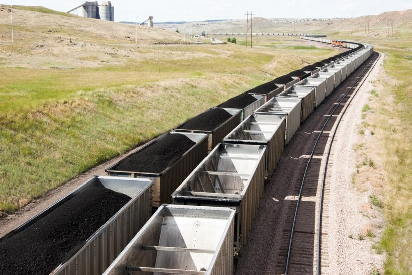 Coal railcars Wyoming by Shutterstock