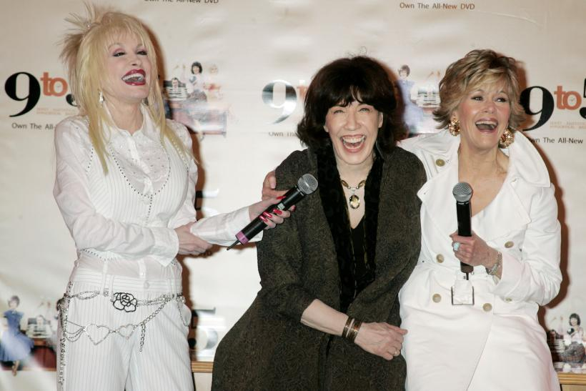 Actresses (L-R) Dolly Parton, Lily Tomlin and Jane Fonda