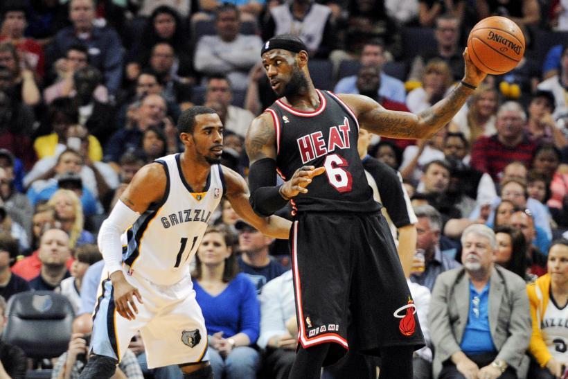 Mike Conley Jr. Memphis Grizzlies LeBron James Miami Heat